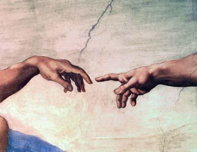 Hands reaching across borders