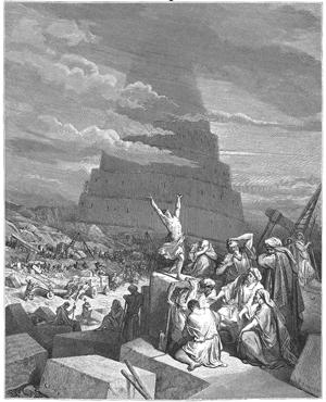 """""""Toen de Here de bouw van de stad en de toren zag, zei Hij: 'Kijk eens wat zij al bereiken nu ze nog maar aan het begin van hun samenwerking staan. Voor dit volk met zijn ene taal zal voortaan niets meer onmogelijk zijn! """""""